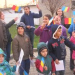 """În cadrul Aşezământului Social """"Sfântul Mucenic Ciprian"""" din Ocna Mureş copii au sărbătorit Ziua Naţională a României"""