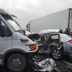 Şofer din Ocna Mureş implicat într-un accident rutier pe DN1, în judeţul Sibiu