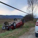 Bărbat de 37 de ani din Ocna Mures cercetat de polițiști, după ce a condus băut și s-a răsturnat cu autoturismul pe raza localității Cisteiul de Mureș