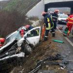 Nou accident rutier, pe DN 1 la Decea cu trei victime, dintre care una încarcerată