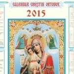 CALENDAR ORTODOX 2015. Când pică marile sărbători religioase | ocnamuresinfo.ro