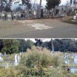 După ani buni în care morții au fost plânși printre bălării, cimitirul oraşului a fost scos din paragină de Primăria Ocna Mureş