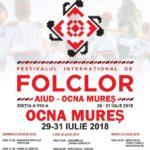 Între 29 și 31 iulie 2018, la Ocna Mureș se va desfășura Festivalul internaţional de folclor