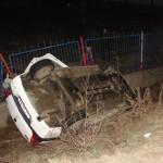 Bărbat din Stâna de Mureş, fără permis de conducere, dar cu alcoolemie 1,11 mg/l, și-a condus mașina neînmatriculată în șanț